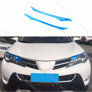 2pc Pvc Brow Truck Parts Front Head Light Cover Fit For Toyota Rav4 2013 2015