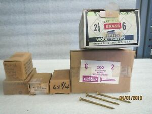 Wood Screws bras 6 X 3 8 1 2 3 4 2 2 1 4 Not Full Box Lot Of 5 Sizes
