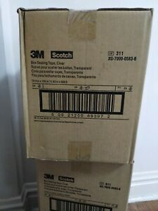 Scotch 3m 311 Carton Sealing Tape 2 0 Mil 3 X 110 Yds Clear 24 case