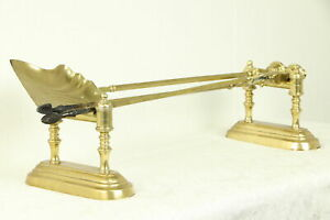 Fireplace Antique Brass Set Of Tools Dogs Set 30843