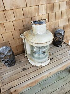 Large Vintage Anchor Galvanized Ship Lantern Boat Nautical Decor Old