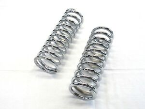 10 Tall Coil Over Shock Springs Id 2 5 Rate 150lb Chrome C21601c