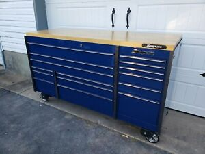 Snap On Triple Bank Toolbox With Butcher Block Top Or Stainless Top Will Ship