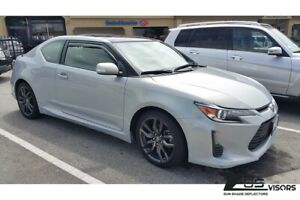 Eos Visors For 11 16 Scion Tc Smoke Tinted Jdm In channel Window Deflectors