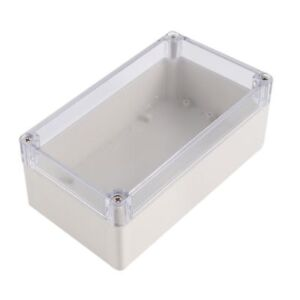 Plastic Electronic Project Box Junction Enclosure Case Box Waterproof Clear Cove