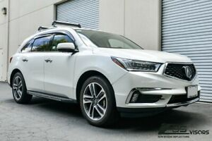 Eos Visors For 14 up Acura Mdx Smoke Tinted Jdm Mugen Style Window Deflectors