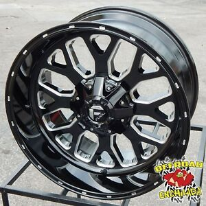 22x10 Black Fuel Titan Wheels Rims Silverado Z71 Sierra 1500 Ford F 150 Fx4 Xlt