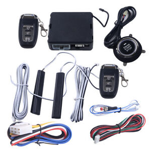 12v Car Pke Passive Keyless Entry Push Button Remote Engine Start stop System