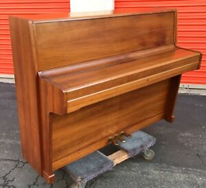 Carl Muller Console Upright Piano Mid Century Modern Mcm Design Renner Bavaria