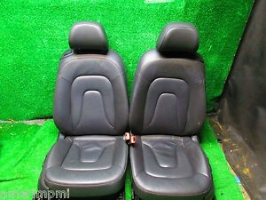 2008 Audi A5 Coupe B8 Oem Front Hotrod Leather 2dr Bucket Black Heated Seats
