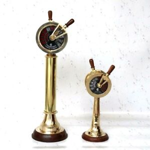 Set Of 2 Brass Ship S Engine Order Telegraph Antique Home Decorative Collectible