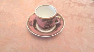 Lot Of Antique Sevres Style Porcelain Hand Painted Cup And Saucer