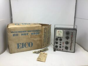 Eico Model 636 Wired Tube Battery Continuity Tester In Box Free Shipping