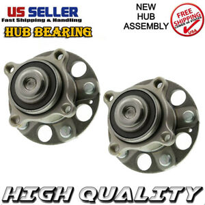 2pcs Rear Wheel Hub Bearing 5lug Assembly For 10 14 Acura Tsx 08 12 Honda Accord