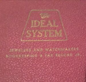 Vtg 1950 The Ideal System 2077 Bookkeeping Tax Records Jewelers Watchmaker