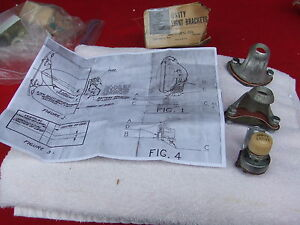 Nos 1942 1948 Ford Lincoln Mercury Road Lamp Kit For Fog Lights Part 21a 18160