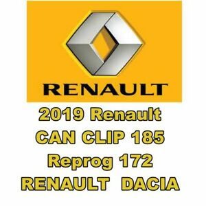 2019 Renault Can Clip 185 And Reprog 172 Software Fast Secure Download