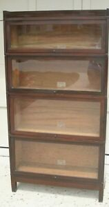 Globe Wernicke Barrister S Bookcase 4 Shelves With Glass Doors
