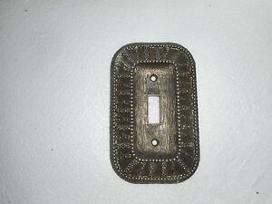 Vintage 1968 American Tack Hardware Metal Decorative Light Switch Cover 50t
