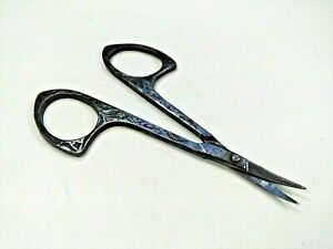 Antique Victorian Sewing Scissors Small Ornate Embroidery Needlework 3 1 2