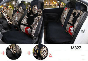 New 13pc Set Plush Cartoon Mickey Mouse Car Covers Universal Car Seat Cover M327