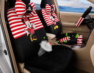 18pcs 2018 New Cartoon Mickey Mouse Car Seat Cover Plush Seat Covers Car Covers