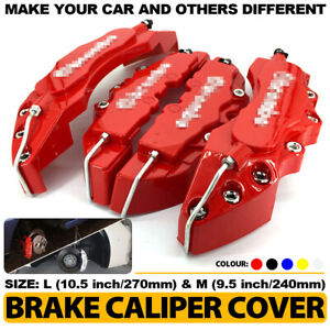 4pcs Red 3d Brake Caliper Covers Style Disc Universal Car Front Rear 10 5 Cy2
