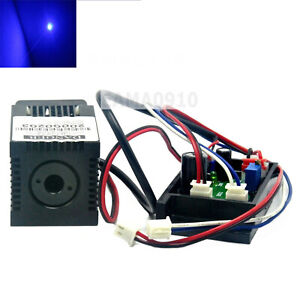 450nm 120mw 12v Blue Laser Dot Diode Module 33x33x50mm W ttl And Fan Cooling
