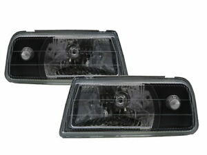 Tracker 1988 1998 Convertible 2d Clear Headlight Black For Geo Lhd
