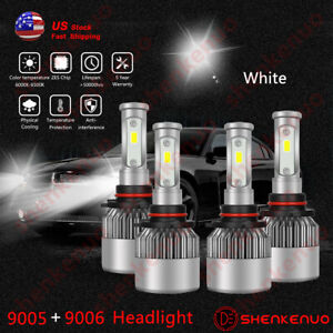 For Chevy Silverado 2001 2006 High Power Led Headlight Bulbs Mp 4pc Wc Us
