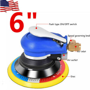 6 Air Random Orbital Palm Sander Auto Body Orbit Da Sanding