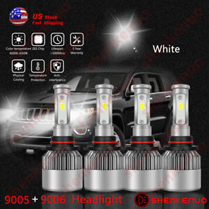 For Jeep Grand Cherokee 2005 2006 2007 Headlight Led Lamp Bulbs Combo 6500k Us