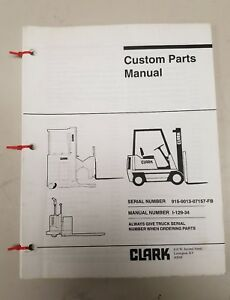 Clark Forklift C500 100 Custom Parts Manual