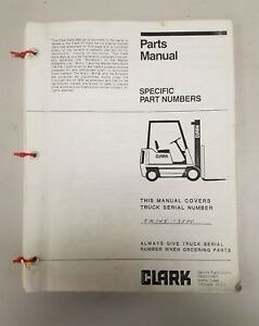 Clark Forklift Tm145 Parts Manual