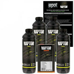U Pol Raptor Black Urethane Spray On Truck Bed Liner Kit