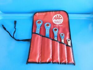 Used Mac Tools 5 Pc S Flat Ratchet Set Sae Usa