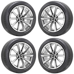 19 Ford Mustang Gt Pvd Chrome Wheels Rims Tires Factory Oem Set 4 10031