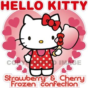 Hello Kitty Ice Cream Bar Concession Fun Food Cart Truck Waterproof Vinyl Decal