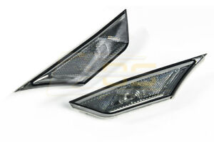 Crystal Smoke Bumper Reflector Side Marker Lights Lamps For 16 up Honda Civic