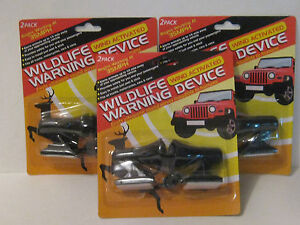 3 Packs Of 2 Deer Whistles Wildlife Warning Devices Brand New Free Shipping