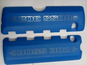 2012 2013 Ford Mustang Boss 302 5 0 Blue Aluminum Engine Coil Valve Covers Pair