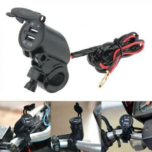 Faucet Dual Usb Port Charger Socket Outlet Waterproof 12v Led For Motorcycle Car
