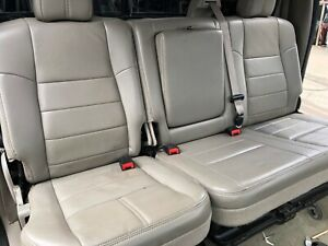 Ford F250 F350 Super Duty Truck Crewcab Rear Leather Bench Seats