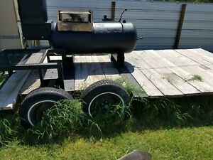 Bbq Grill And Smoker Cooker Combo Tow able Trailer