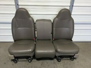 1999 2010 Ford F250 F350 F450 Super Duty Front Seats Gray Vinyal