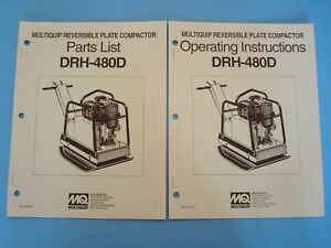 Mq Reversible Plate Compactor Drh 480d Operating Parts Manuals 1993
