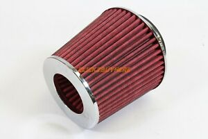 K N 3 To 4 High Flow Air Filter Universal Air Intake Cone Chrome Improve Hp