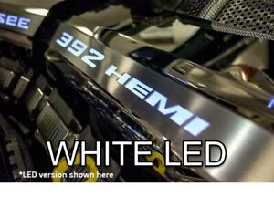 Polished Fuel Rail Covers W White Led Inlay For 2015 2020 Srt 6 4l 392 Engines