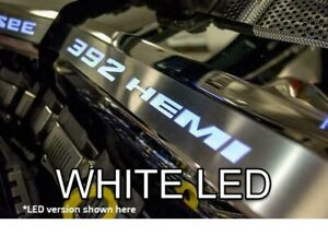 Polished Fuel Rail Covers W White Led Inlay For 2011 2014 Srt 8 6 4 392 Engines