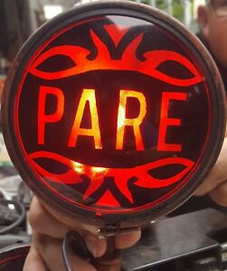 Red Pare Stop Light Glass Lens Customized Paint 12v Rat Rod Chevy Vw